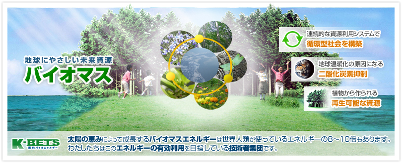 バイオマス-地球にやさしい未来資源
